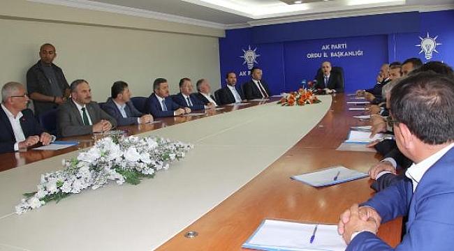 Numan Kurtulmuş Belediye Başkanlarıyla toplantı yaptı