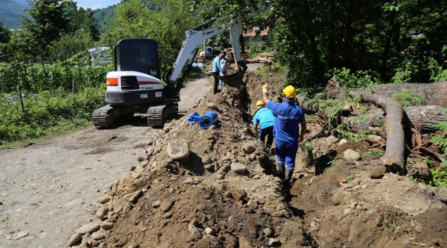 Güneydoğu'dan gelecek fındık işçileri için su çalışması yapılıyor