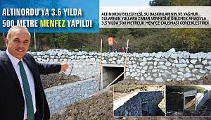 Altınordu Belediyesi'nden 3.5 yılda 500 menfez