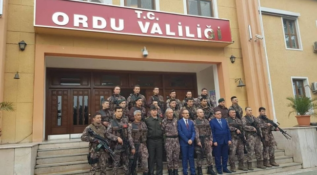 Ordu'da PÖH timi dualarla Afrin'e uğurlandı
