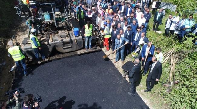Ordu'da turizme giden yollarda asfalt çalışması
