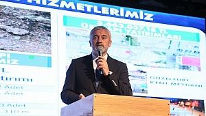 Başkan Yılmaz Gölköy'e yaptığı hizmetleri anlattı