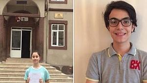 LGS'de Ordu'dan iki öğrenci Türkiye birincisi oldu