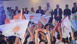 Ordu'da AK Partililer ve MHP'liler seçimi havai fişeklerle kutladılar