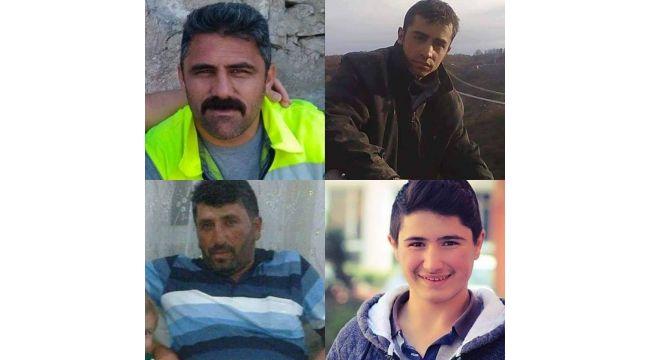 Gurbete giden 4 işçi kazada hayatını kaybetti
