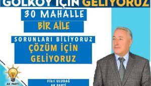 Gölköy'de Fikri Uludağ ön planda