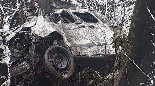 Ordu'da araç uçurumdan yuvarlandı: 3 ölü