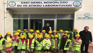 Küçük öğrenciler OSKİ'de