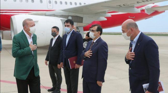 Cumhurbaşkanı Erdoğan Giresun'a gelmişti, dikkat çeken detay